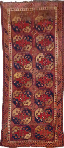 AFGHANI SULAMANI HAND-KNOTTED RUG MADE WITH NATURAL WOOL AND COTTON 5'0'' X 9'11''  ABC2389472