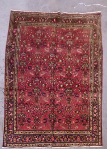 "PERSIAN SAVEH HAND-KNOTTED RUG MADE WITH NATURAL WOOL & COTTON 8'3'' X 6'3"" ABC213"