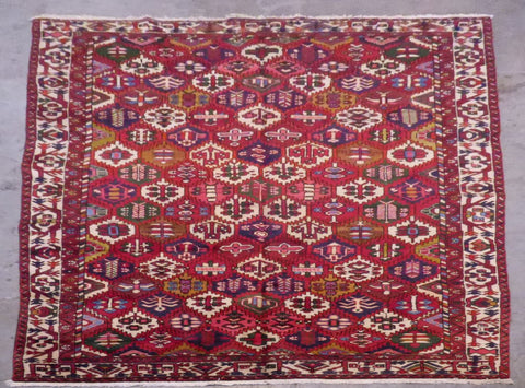 "PERSIAN BAKHTIAR HAND-KNOTTED RUG MADE WITH NATURAL WOOL & COTTON 10'8'' X 7'0"" ABCR02484"