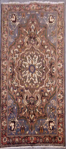 "PERSIAN TABRIZ HAND-KNOTTED RUG MADE WITH NATURAL WOOL & COTTON 10'2'' X 6'8"" ABCR02103"