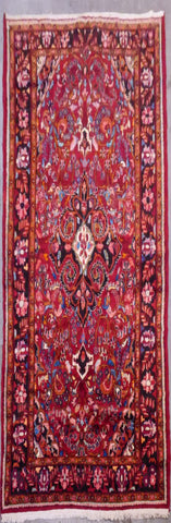 "PERSIAN SAROUGH HAND-KNOTTED RUG MADE WITH NATURAL WOOL & COTTON 10'11'' X 6'8"" ABCR02522"