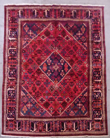 "PERSIAN JOSHGHAN HAND-KNOTTED RUG MADE WITH NATURAL WOOL & COTTON 7'1'' X 10'10"" ABCR02122"