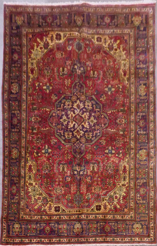 "PERSIAN TABRIZ HAND-KNOTTED RUG MADE WITH NATURAL WOOL & COTTON 11'6'' X 8'1"" ABC200"