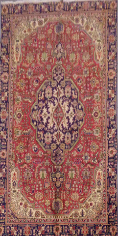 "PERSIAN HAND-KNOTTED RUG MADE WITH NATURAL WOOL & COTTON 10'3'' X 7'1"" ABC56"