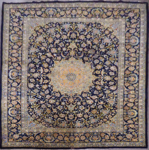 "PERSIAN KASHAN HAND-KNOTTED RUG MADE WITH NATURAL WOOL & COTTON 10'0'' X 12'3"" ABC372"