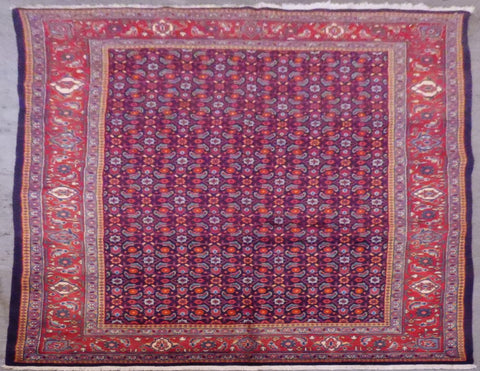 "PERSIAN MAHAL HAND-KNOTTED RUG MADE WITH NATURAL WOOL & COTTON 10'7'' X 6'6"" ABCR02113"