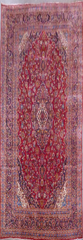 "PERSIAN KASHAN HAND-KNOTTED RUG MADE WITH NATURAL WOOL & COTTON 13'1'' X 9'7"" ABC371"