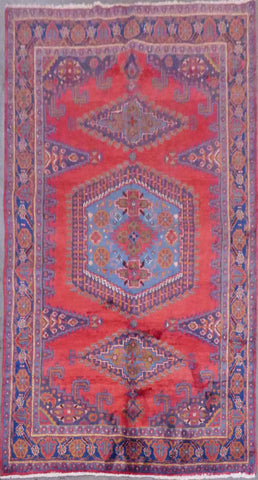 "PERSIAN WISS HAND-KNOTTED RUG MADE WITH NATURAL WOOL & COTTON 9'9'' X 6'10"" ABCR02932"
