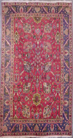 "PERSIAN TABRIZ HAND-KNOTTED RUG MADE WITH NATURAL WOOL & COTTON 9'8'' X 6'3"" ABCR02160"