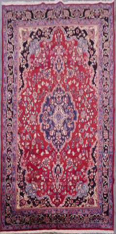 "PERSIAN TABRIZ HAND-KNOTTED RUG MADE WITH NATURAL WOOL & COTTON 10'5'' X 6'5"" ABCR02902"