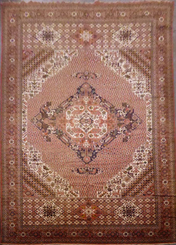 "PAKISTANI PESHAWAR HAND-KNOTTED RUG MADE WITH NATURAL WOOL & COTTON COLOR ANTIQUE WASH 13'0"" X 20'0"" ABCR04550"