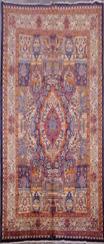 "PERSIAN KASHAN HAND-KNOTTED RUG MADE WITH NATURAL WOOL & COTTON 12'10'' X 9'7"" ABCR02205"