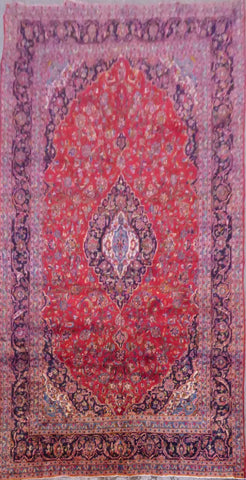 "PERSIAN MASHAD HAND-KNOTTED RUG MADE WITH NATURAL WOOL & COTTON 13'0'' X 9'6"" ABC13"
