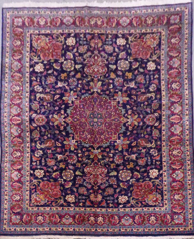 "PERSIAN TABRIZ HAND-KNOTTED RUG MADE WITH NATURAL WOOL & COTTON 12'9'' X 9'9"" ABCR01265"