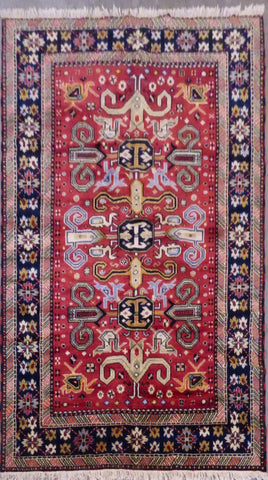 "PERSIAN BHADOHI HAND-KNOTTED RUG MADE WITH NATURAL WOOL & COTTON 7'9'' X 5'8"" ABCR02276"