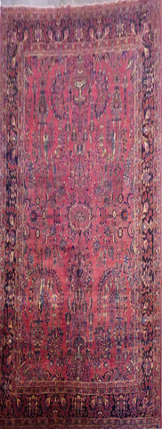 "PERSIAN SAROUGH HAND-KNOTTED RUG MADE WITH NATURAL WOOL & COTTON 11'8'' X 8'8"" ABC3802"