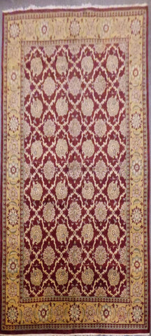 "PAKISTANI HAND-KNOTTED RUG MADE WITH NATURAL WOOL & COTTON 9'9"" X 15'0"" ABC134423"