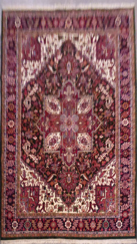 "PERSIAN HERIZ HAND-KNOTTED RUG MADE WITH NATURAL WOOL & COTTON 9'0'' X 12'2"" ABC0020340"