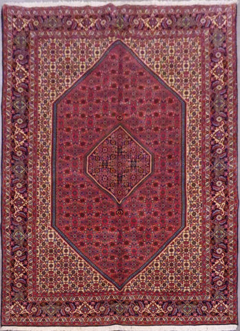 "PERSIAN BIDJAR HAND-KNOTTED RUG MADE WITH NATURAL WOOL & COTTON 10'0'' X 6'8"" ABCR02856"