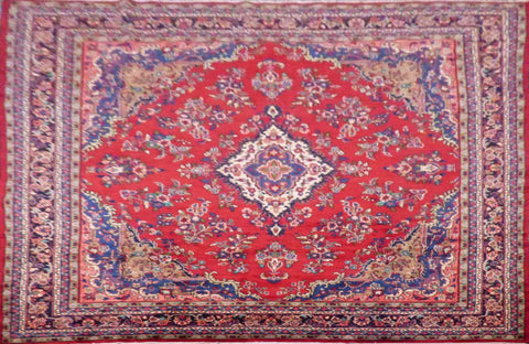 "PERSIAN HAMEDAN HAND-KNOTTED RUG MADE WITH NATURAL WOOL & COTTON 14'4'' X 10'2"" ABC355"