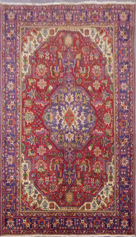 "PERSIAN TABRIZ HAND-KNOTTED RUG MADE WITH NATURAL WOOL & COTTON 11'0'' X 8'0"" ABC208"