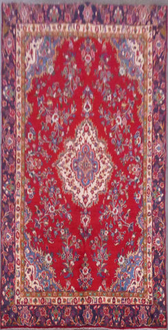 "PERSIAN HAMEDAN HAND-KNOTTED RUG MADE WITH NATURAL WOOL & COTTON 10'4'' X 7'2"" ABC430"