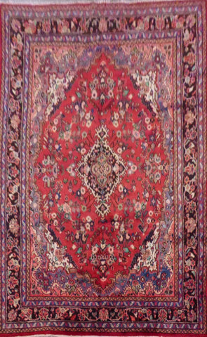 "PERSIAN HAMEDAN HAND-KNOTTED RUG MADE WITH NATURAL WOOL & COTTON 10'0'' X 7'0"" ABC390"
