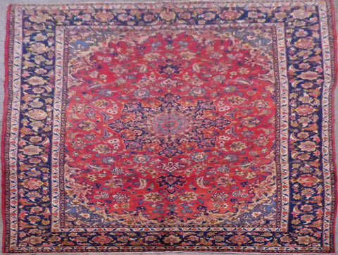"PERSIAN HAND-KNOTTED RUG MADE WITH NATURAL WOOL & COTTON 10'8'' X 6'11"" ABC419"
