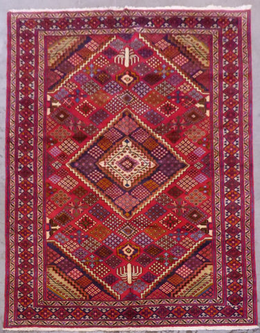 "PERSIAN ARAK HAND-KNOTTED RUG MADE WITH NATURAL WOOL & COTTON 9'7'' X 6'10"" ABCR02901"