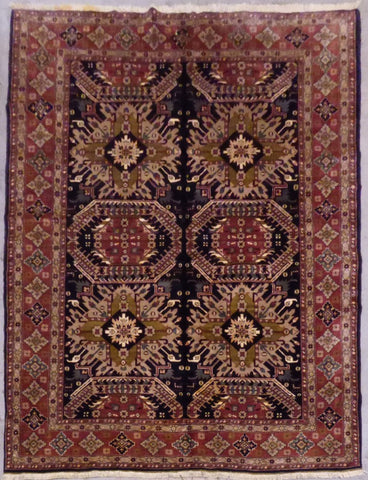 "PERSIAN TABRIZ HAND-KNOTTED RUG MADE WITH NATURAL WOOL & COTTON 9'6'' X 6'7"" ABCR00023"