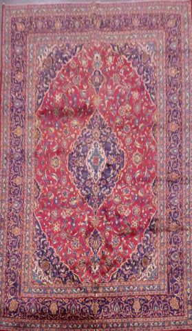 "PERSIAN KASHAN HAND-KNOTTED RUG MADE WITH NATURAL WOOL & COTTON 12'4'' X 9'6"" ABCR02158"