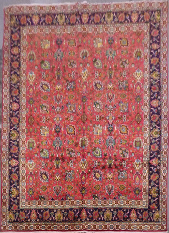 "PERSIAN TABRIZ HAND-KNOTTED RUG MADE WITH NATURAL WOOL & COTTON 12'6'' X 9'8"" ABCR02102"