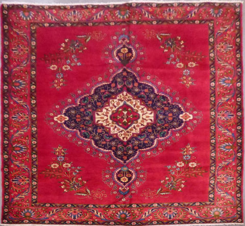 "PERSIAN TABRIZ HAND-KNOTTED RUG MADE WITH NATURAL WOOL & COTTON 11'1'' X 9'5"" ABCR02150"