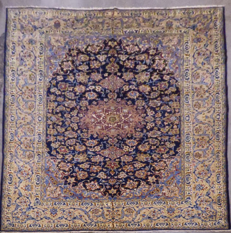 "PERSIAN MASHAD HAND-KNOTTED RUG MADE WITH NATURAL WOOL & COTTON 13'1'' X 9'11"" ABCR02199"