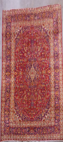 "PERSIAN MASHAD HAND-KNOTTED RUG MADE WITH NATURAL WOOL & COTTON 13'0'' X 9'8"" ABC123"