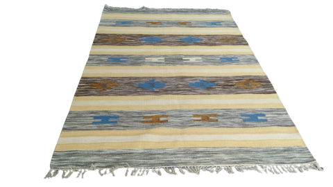 Sebys Wool Cotton Indian  Killim 5' X 8' ABCW07002