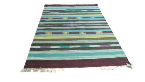 Sebys Wool Cotton Indian  Killim 5' X 8' ABCW07003
