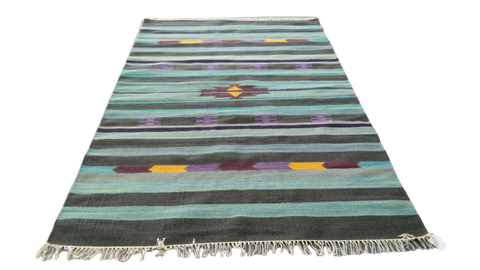 Sebys Wool Cotton Indian  Killim 5' X 8' ABCW07004