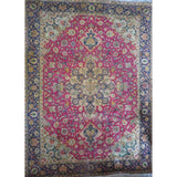 "Persian tabriz Authentic Hand-Knotted Traditonal Vintage Persian Rugs Natural Wool and Cotton Multicolor Area Rug  6'9""  X  6'3""  ABCR06625"