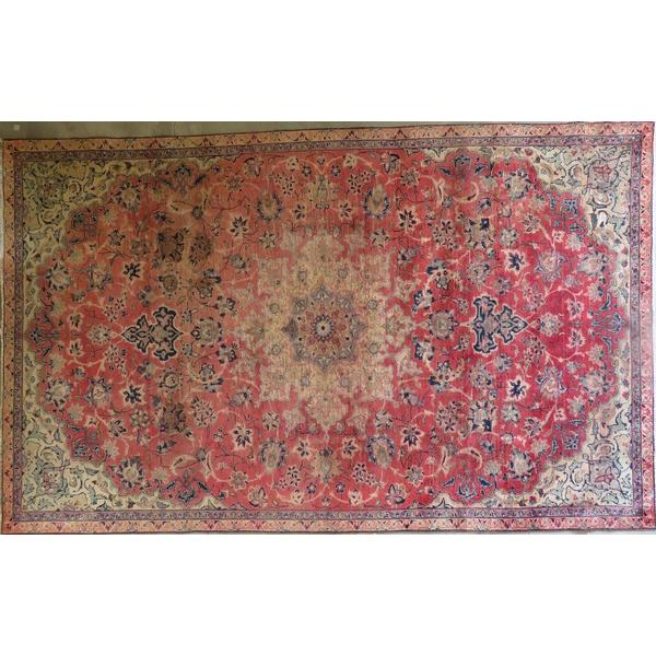 "Persian najafabad Authentic Hand-Knotted Traditonal Vintage Persian Rugs Natural Wool and Cotton Multicolor Area Rug  9'8""  X  9'6"" ABCR06679"