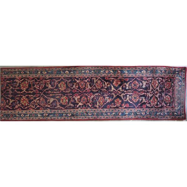 "Persian mashad Authentic Hand-Knotted Traditonal Vintage Persian Rugs Natural Wool and Cotton Multicolor Area Rug   7'1""  X  4'0""  ABCR06691"