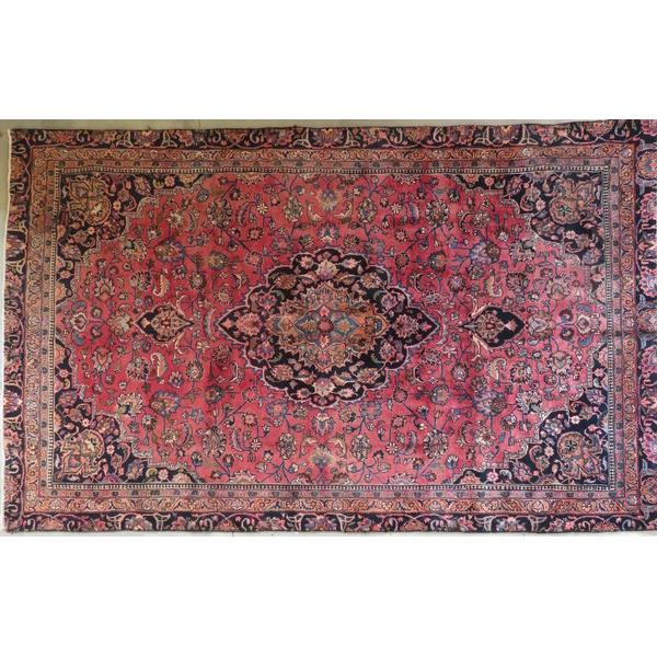 "Persian tabriz Authentic Hand-Knotted Traditonal Vintage Persian Rugs Natural Wool and Cotton Multicolor Area Rug   10'8""  X  6'6"" ABCR06706"