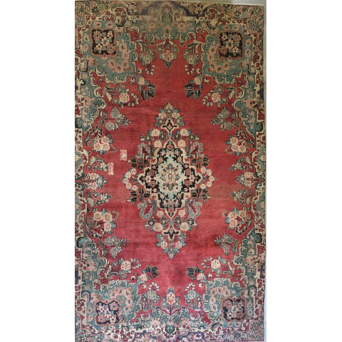 "Persian mahal Authentic Hand-Knotted Traditonal Vintage Persian Rugs Natural Wool and Cotton Multicolor Area Rug  9'2""  X  5'6""  ABCR06719"