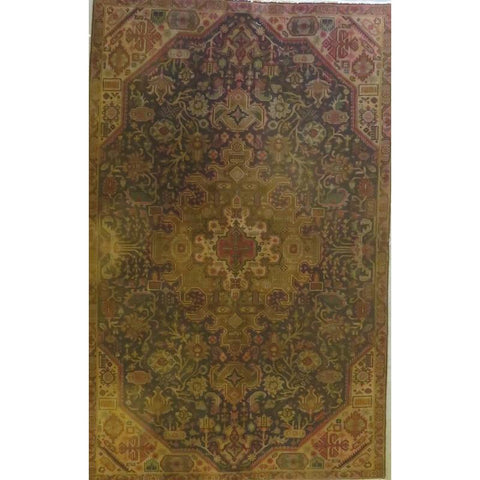 "Persian tabriz Authentic Hand-Knotted Traditonal Vintage Persian Rugs Natural Wool and Cotton Multicolor Area Rug  12'2""  X  9'6"" ABCR06724"
