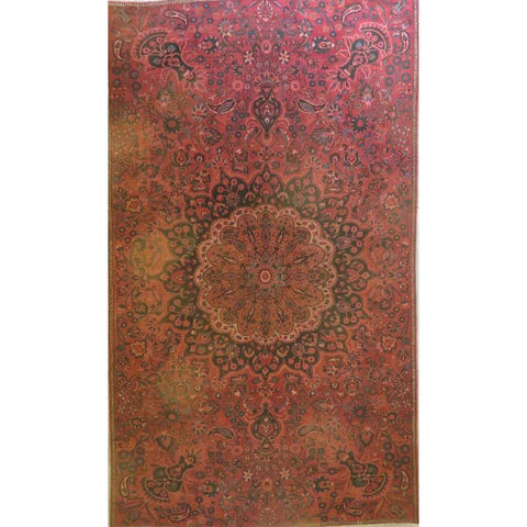 "Persian mashad Authentic Hand-Knotted Traditonal Vintage Persian Rugs Natural Wool and Cotton Multicolor Area Rug  7'9""  X  4'10""  ABCR06729"