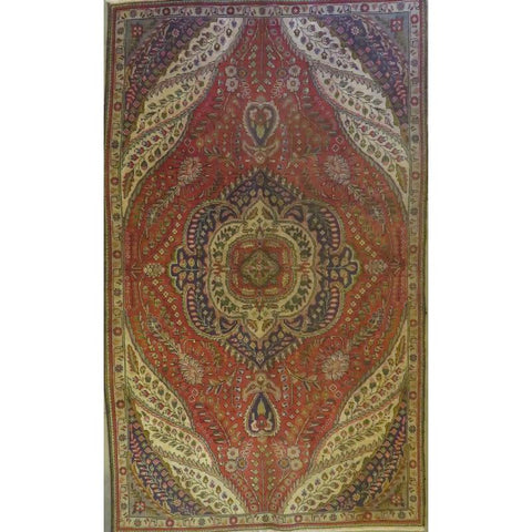 "Persian tabriz Authentic Hand-Knotted Traditonal Vintage Persian Rugs Natural Wool and Cotton Multicolor Area Rug  9'7""  X  5'4"" ABCR06731"