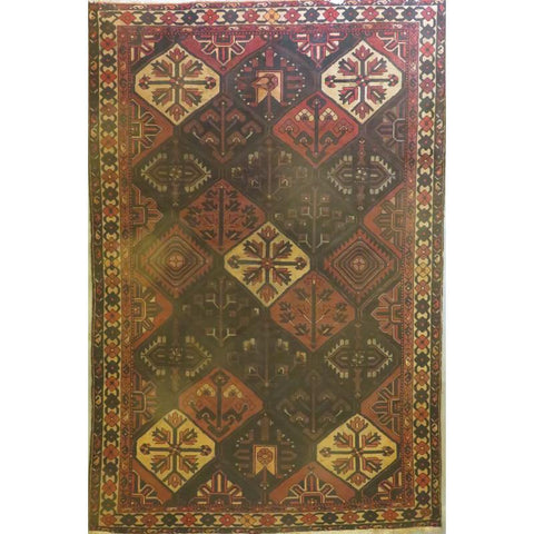 "Persian tabriz Authentic Hand-Knotted Traditonal Vintage Persian Rugs Natural Wool and Cotton Multicolor Area Rug  11'3""  X  6'7""  ABCR06734"