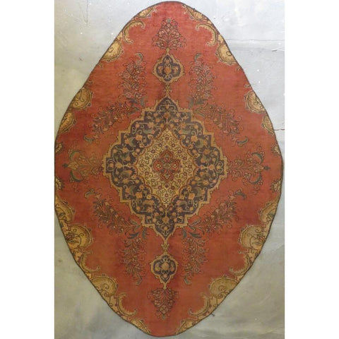 "Persian tabriz Authentic Hand-Knotted Traditonal Vintage Persian Rugs Natural Wool and Cotton Multicolor Area Rug  8'2""  X  4'9"" ABCR06741"