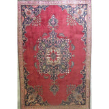 "Persian tabriz Authentic Hand-Knotted Traditonal Vintage Persian Rugs Natural Wool and Cotton Multicolor Area Rug  11'1""  X  8'4"" ABCR06744"