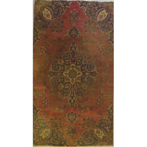 "Persian tabriz Authentic Hand-Knotted Traditonal Vintage Persian Rugs Natural Wool and Cotton Multicolor Area Rug  6'10""  X  4'0"" ABCR06747"
